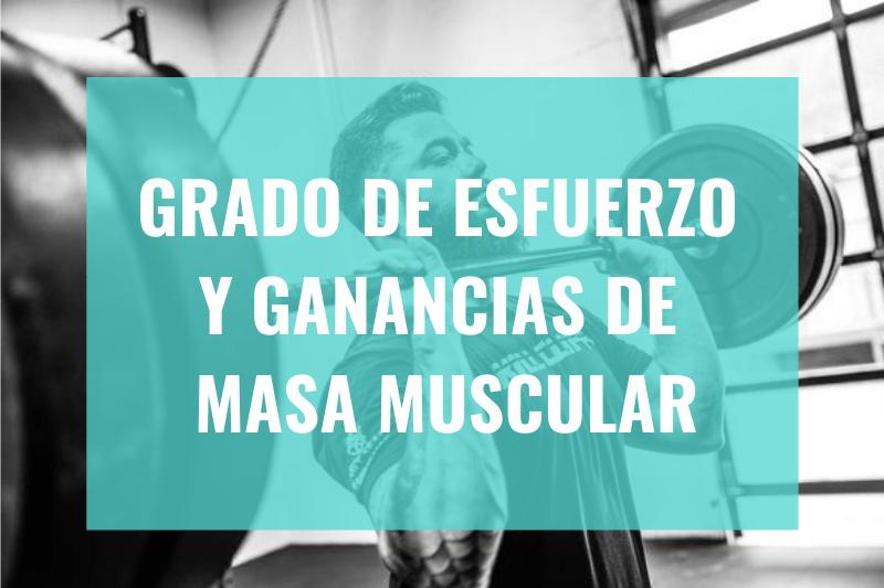 Grado de Esfuerzo y Ganancias de Masa Muscular - Portada