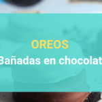 Receta - Oreos bañadas en chocolate y healthy