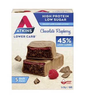 Advantage Bar Chocolate Raspberry - (5 X 30 g) - Atkins