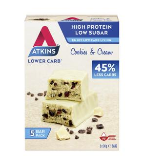 Advantage Bar Cookies & Cream - (5 X 30 g) - Atkins