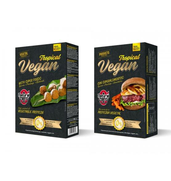 Tropical Vegan / Hamburguesa Proteica Vegana 190 g - Natural Zero